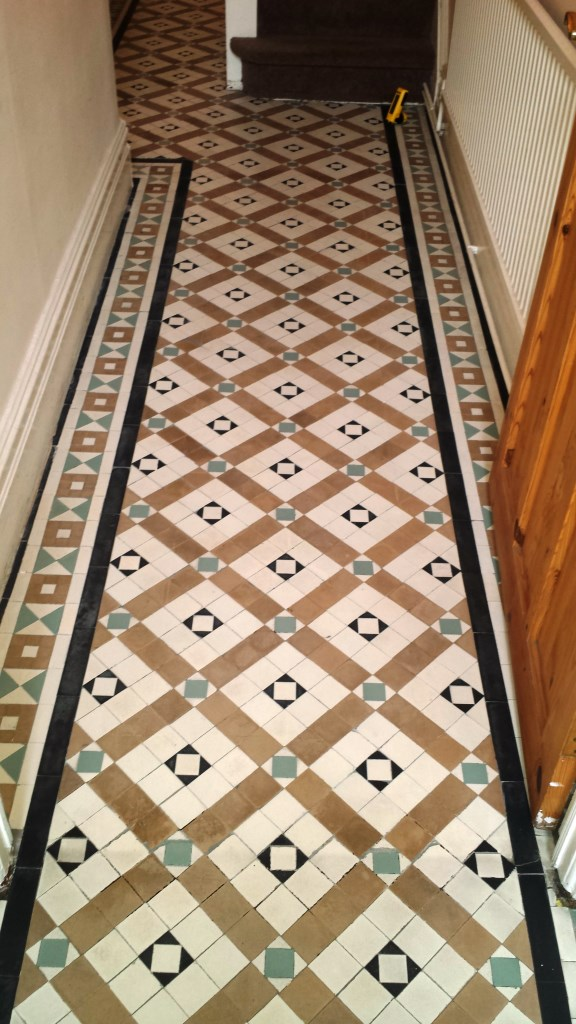Victorian Tiled Floor Renovation Port Talbot After