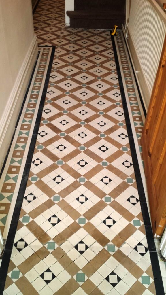 Victorian Tiled Floor Renovation Port Talbot After