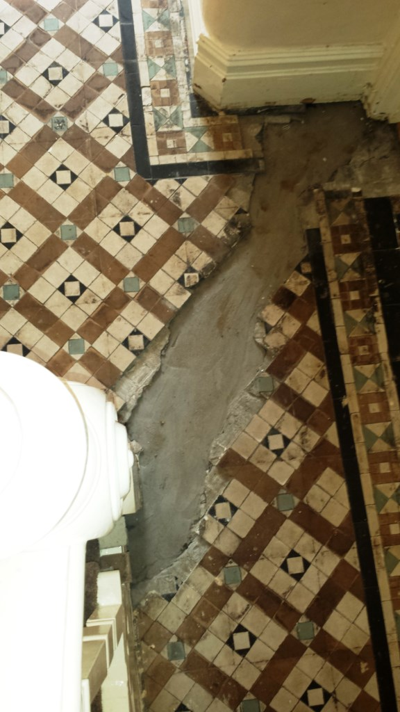 Victorian Tiled Floor Renovation Port Talbot Before