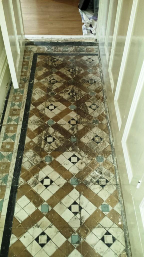Victorian Tiled Floor Renovation Port Talbot Before