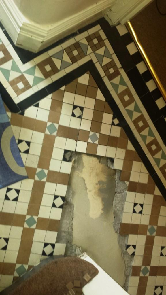Victorian Tiled Floor Renovation Port Talbot During