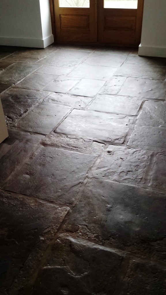 Old Flagstones After Restoration in Caerleon