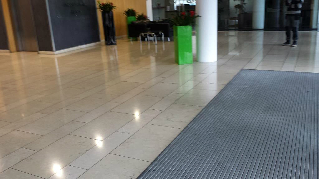 Polished Limestone Central Cardiff Offices