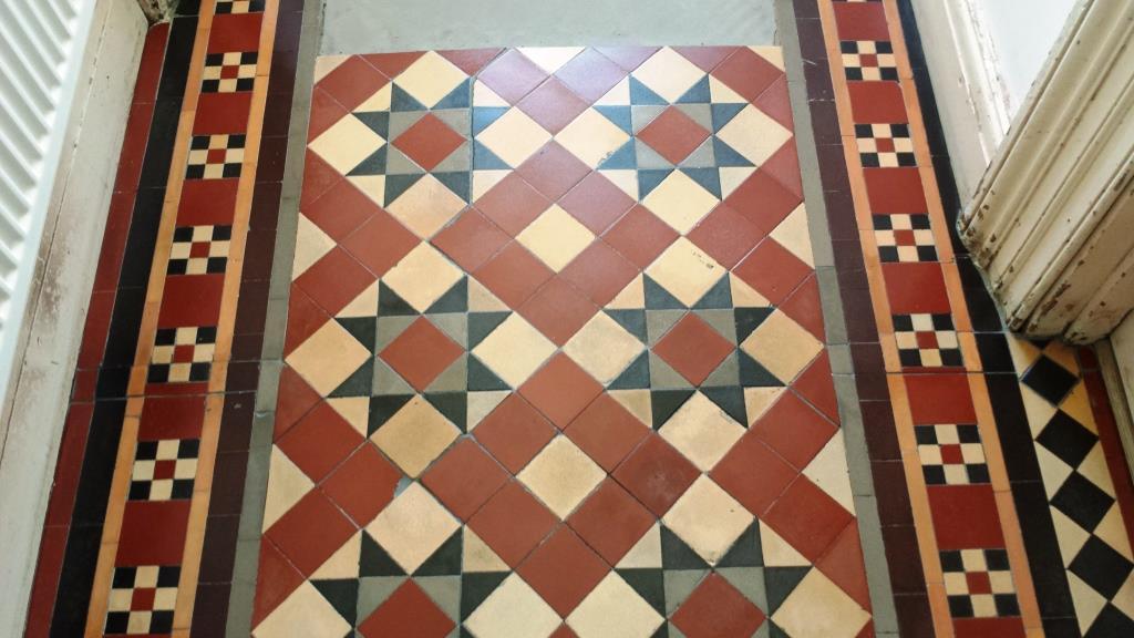 Victorian Tiled Floor Pontcana After Repairs