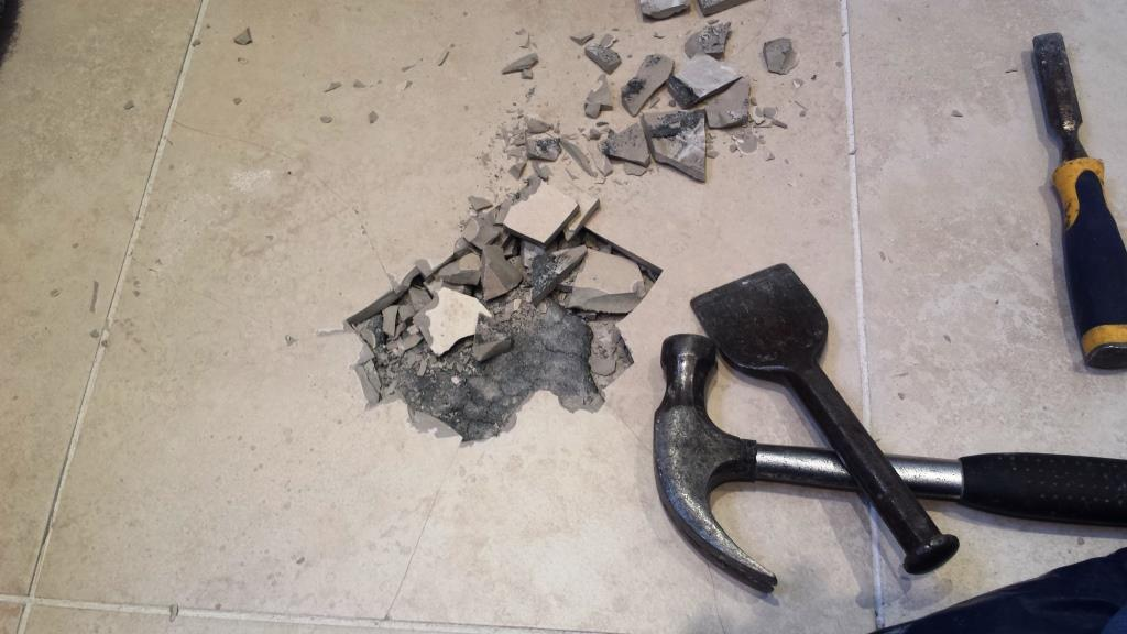 Cracked Bathroom Floor Tile Repair Cardiff