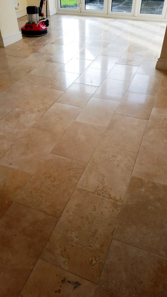 Polished Limestone After Burnishing Cowbridge