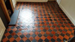 Quarry Tiles After Restoration in Splott Cardiff