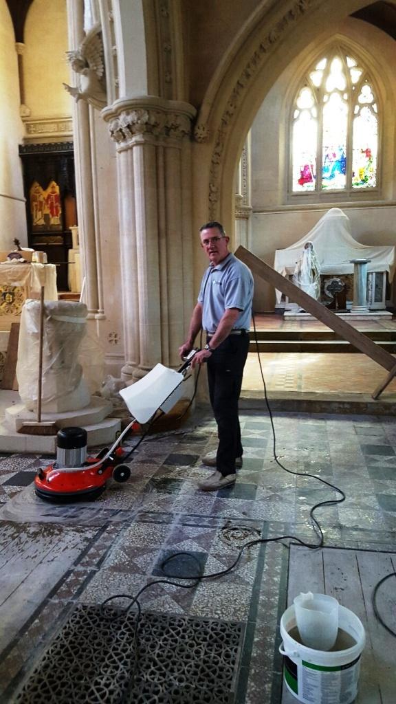 St Marys Church Bath During Fire Restoration