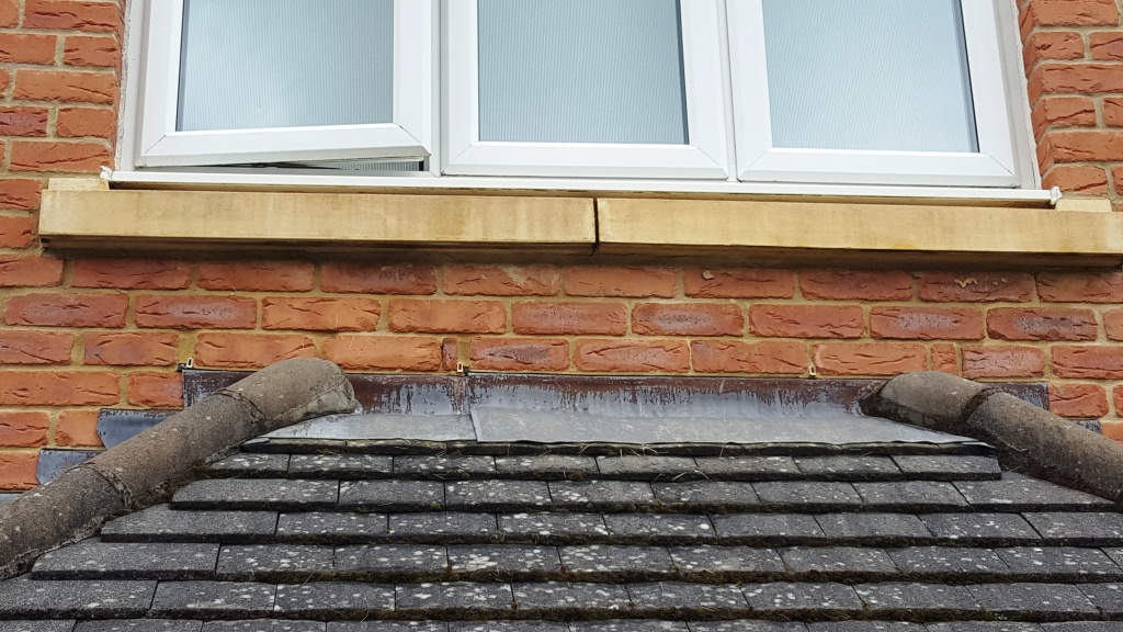 Bathstone window cill after cleaning Cardiff