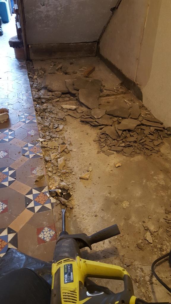 Victorian Hallway Penarth During Restoration