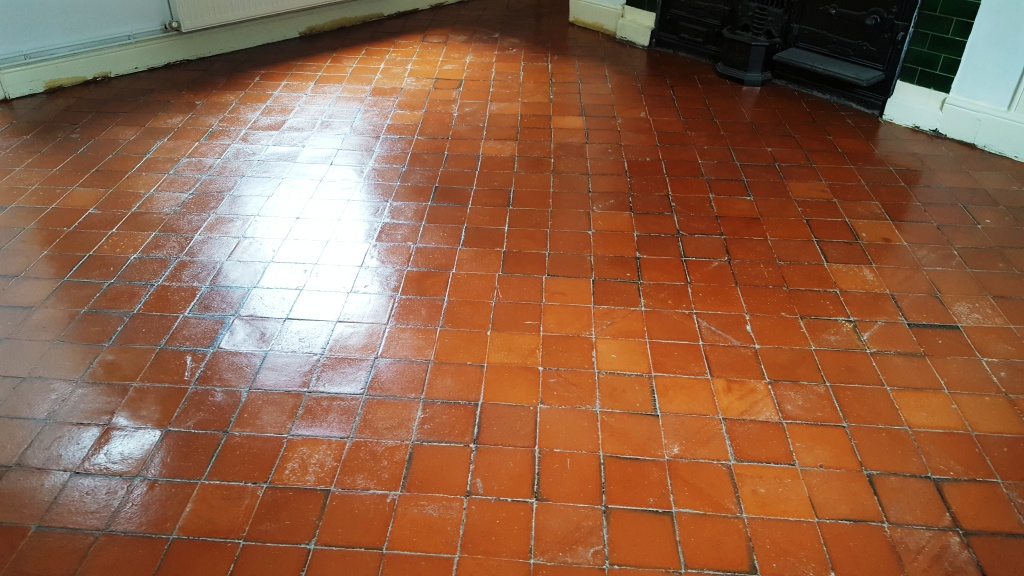 Quarry Tiles in Swansea After Restoration