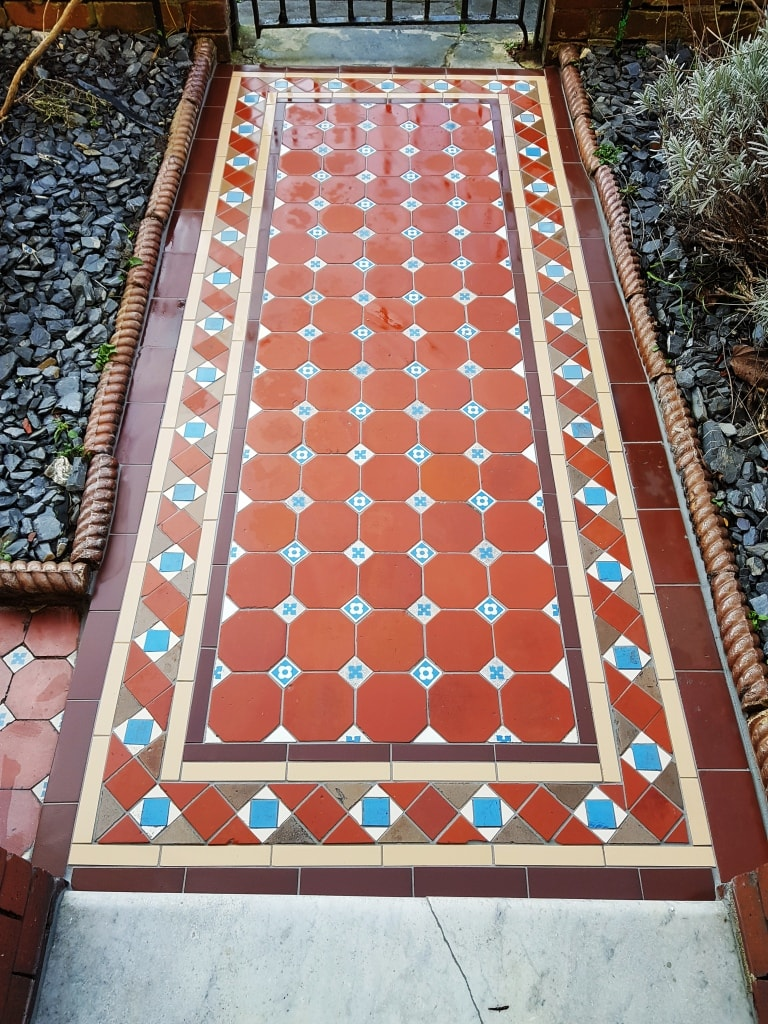 Victorian Tiled Pathway After Rebuild Cardiff