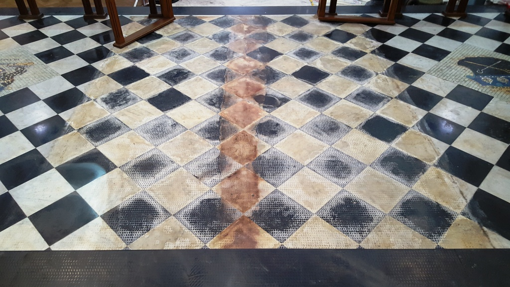 Marble Church Floor Before Renovation Ely