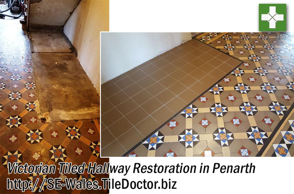 Victorian Tiled Hallway Restored in Penarth