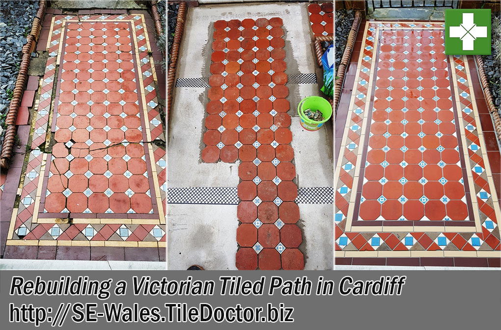 Rebuilding Victorian Tiled Path in Cardiff