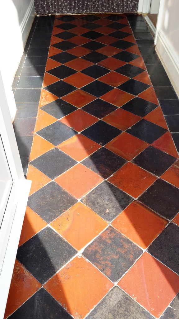 Quarry Tiles After Restoration in Cardiff