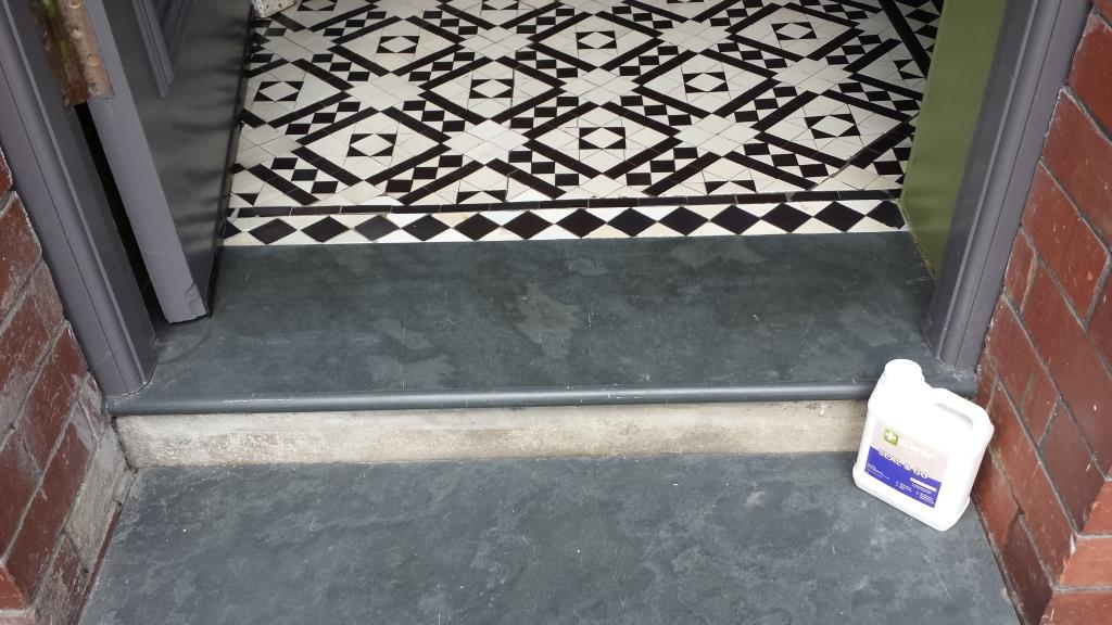 White Victorian Floor Tiles Penarth After