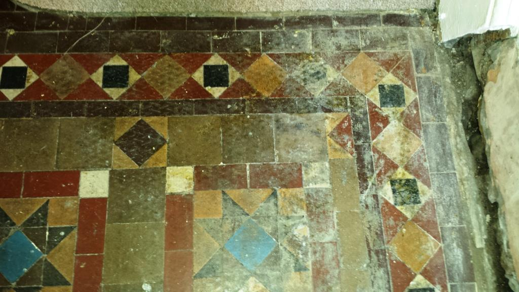 Victorian Tiled Floor Discovered in Splot Before