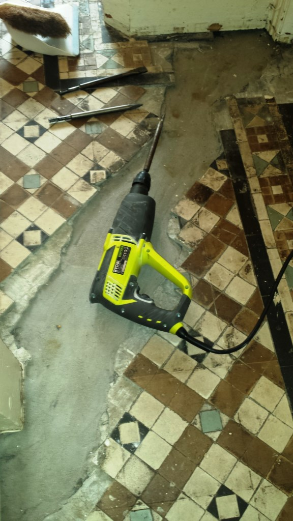 Victorian Tiled Floor Renovation Port Talbot During