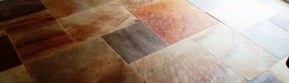 Sandstone Floor Cardiff After Cleaning and Sealing