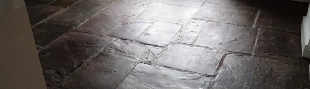 Old Flagstones After Restoration in Caerleon