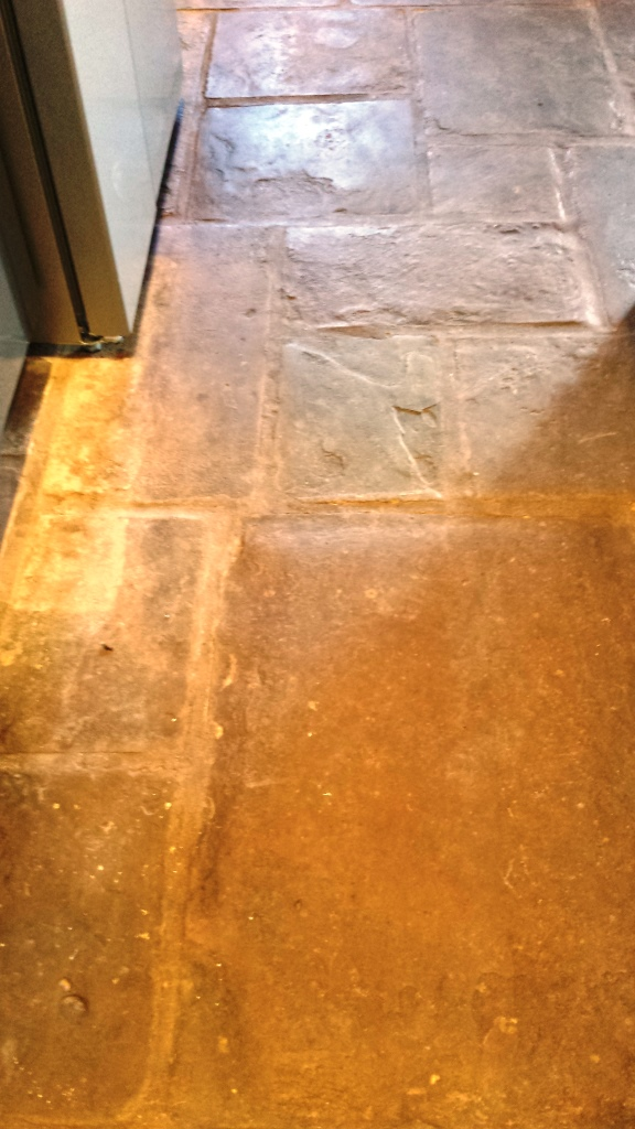 Old Flagstones Before Restoration in Caerleon