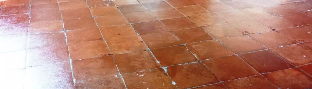 Quarry Tiled Floor After Restoration near Caerphilly Castle
