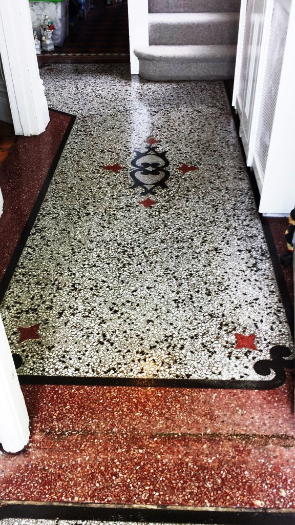Terrazzo Hallway after deep cleaning near Caerphilly Castle