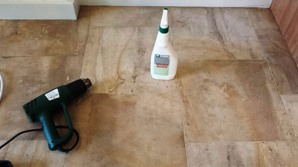Restoring A Stained Limestone Tiled Kitchen Floor In