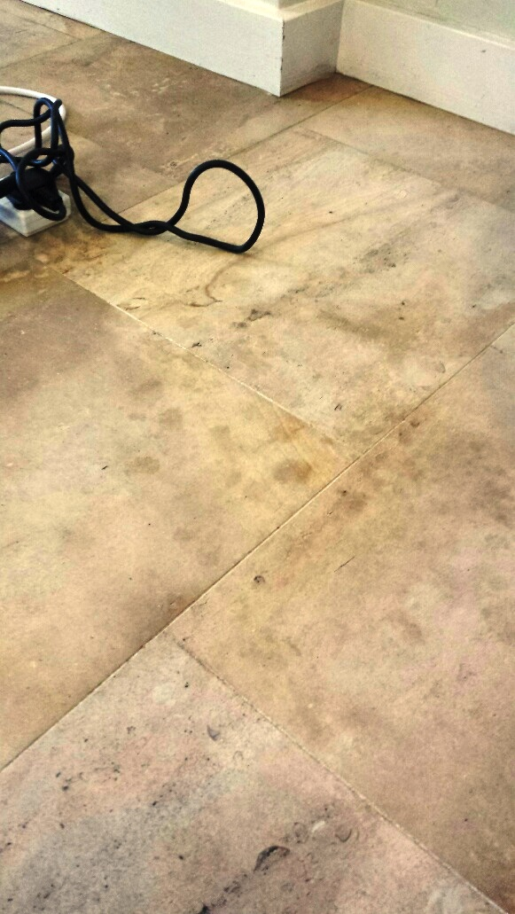 Limestone Reduxa Before Stain Removal