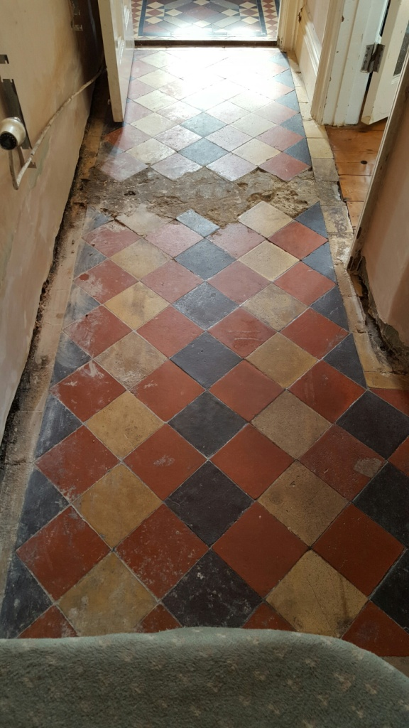Restoring Old Victorian Lobby Tiles And Hallway Cleaning And