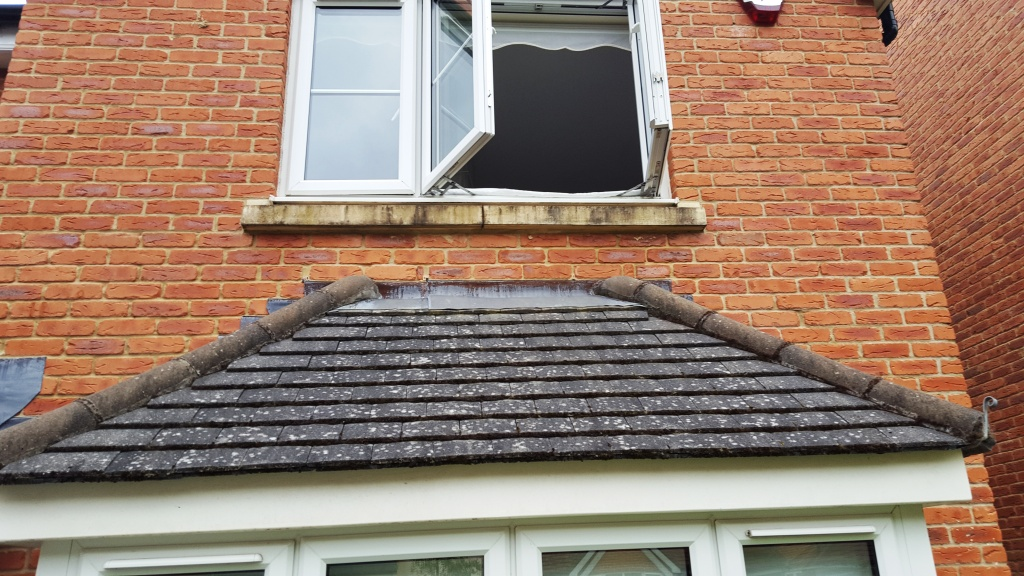 Bathstone window cill before cleaning Cardiff
