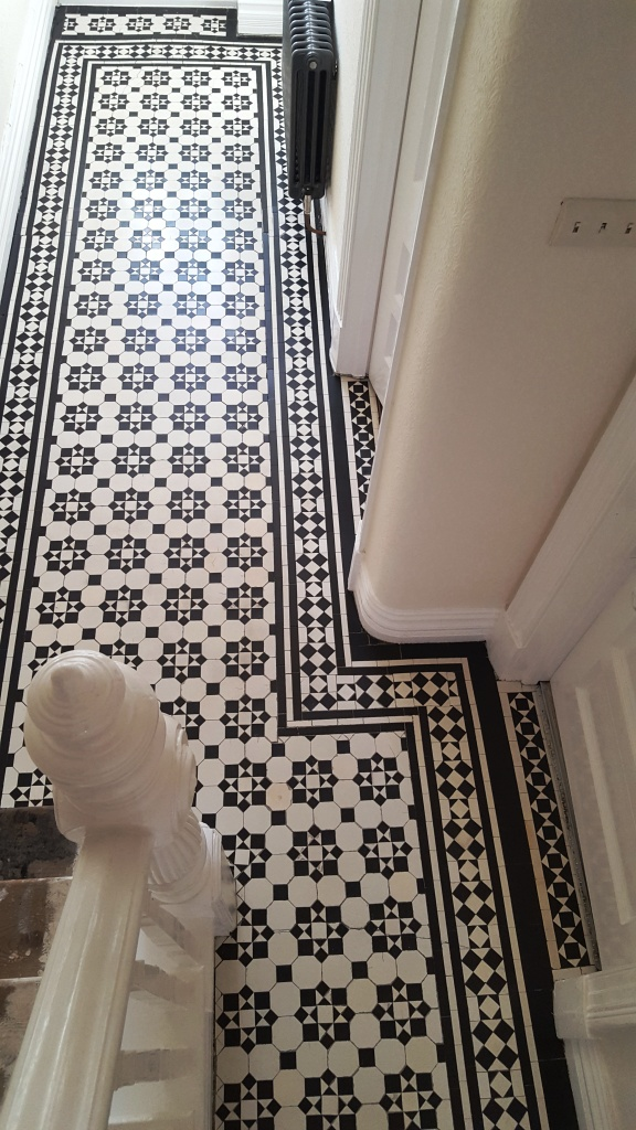 Restoring Victorian Floor Tiles Hidden Under Carpet Cleaning And