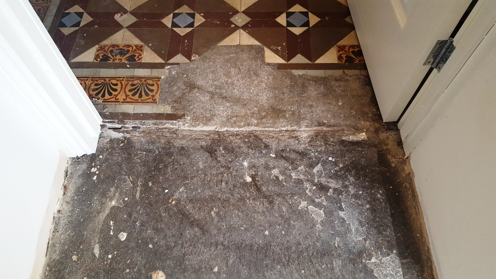 Victorian Hallway Floor Blackwood Before Repair