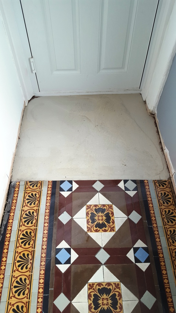 Victorian Hallway Floor Blackwood During Restoration
