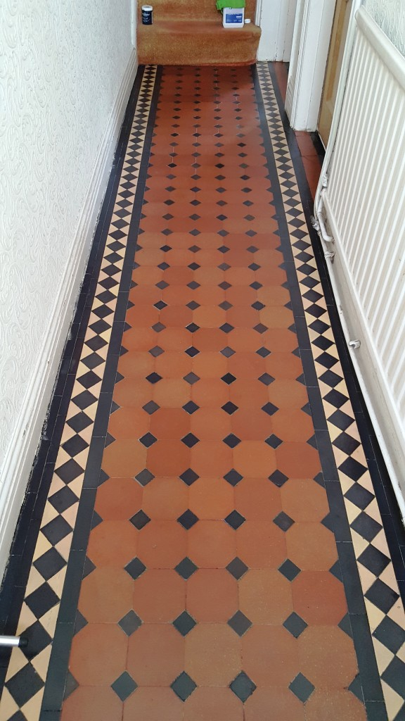 Victorian Tiled Hallway in Cardiff After Restoration