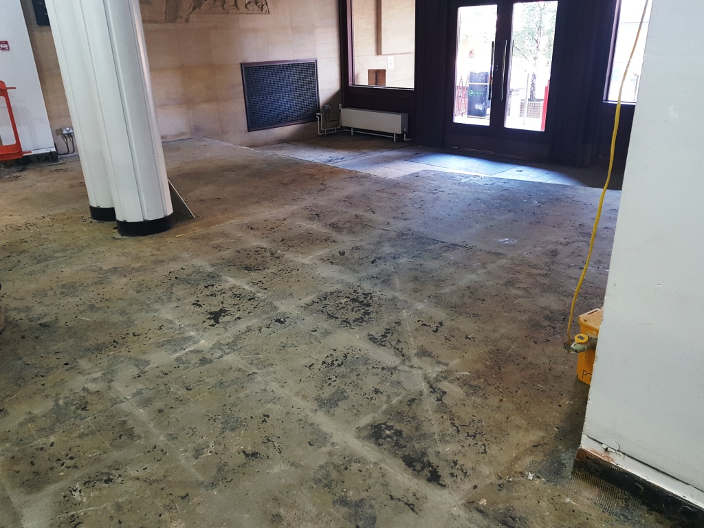 Terrazzo Floor Before Restoration Cardiff University