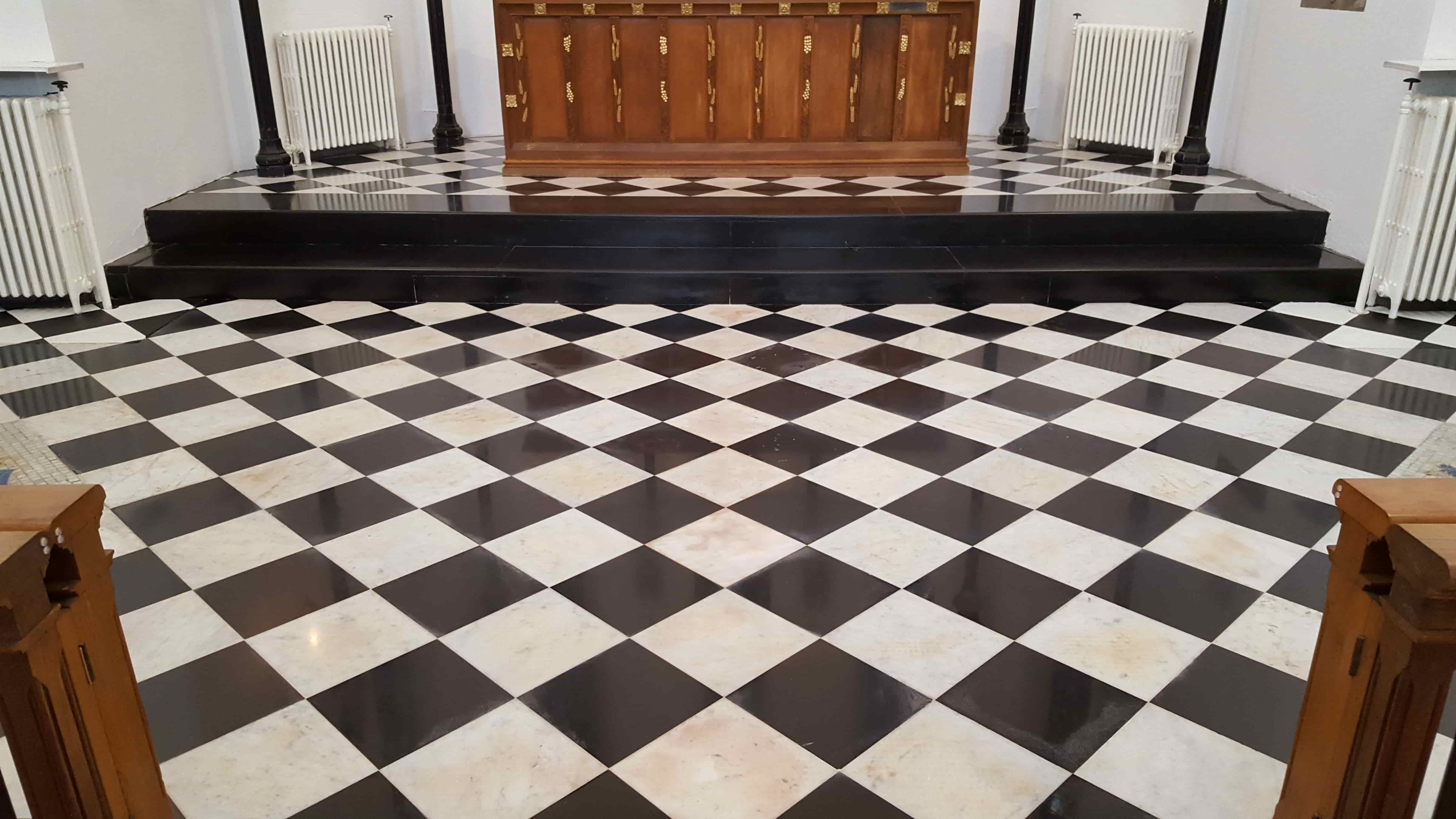 Marble Church Floor After Renovation