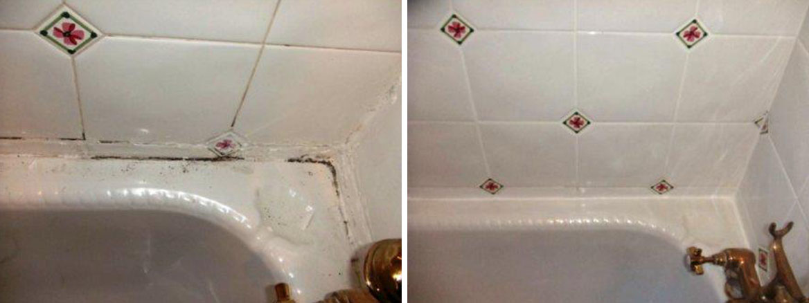 Bathroom Seal replacement before after