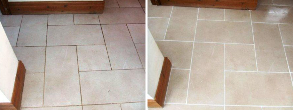 Grout Colouring Before and After