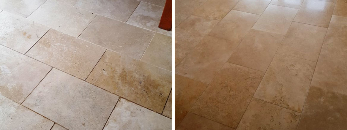 Polished Limestone Before and After Burnishing Cowbridge