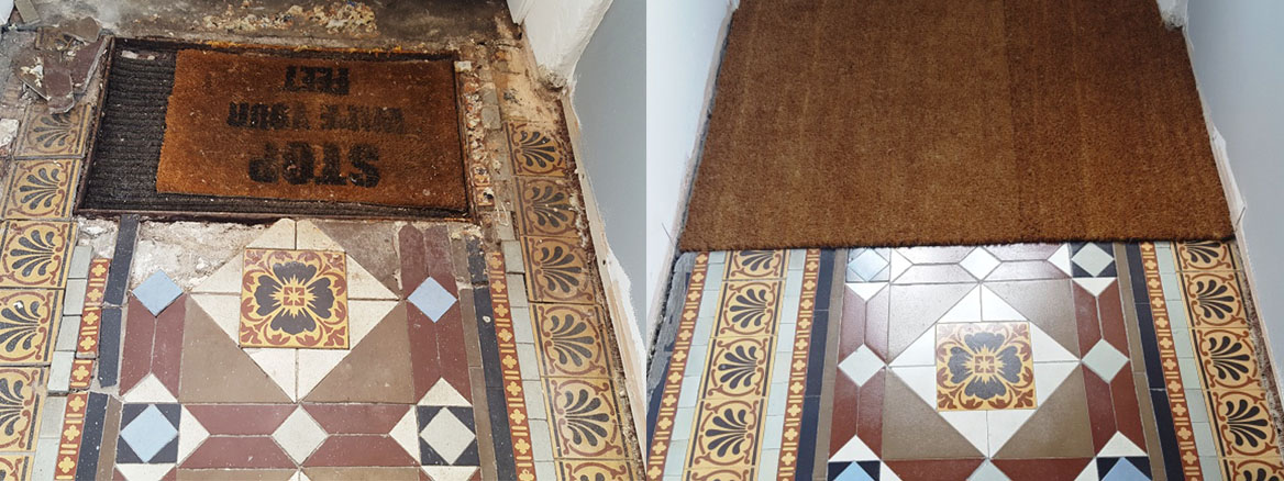 Victorian Hallway Floor Blackwood Before and After Restoration