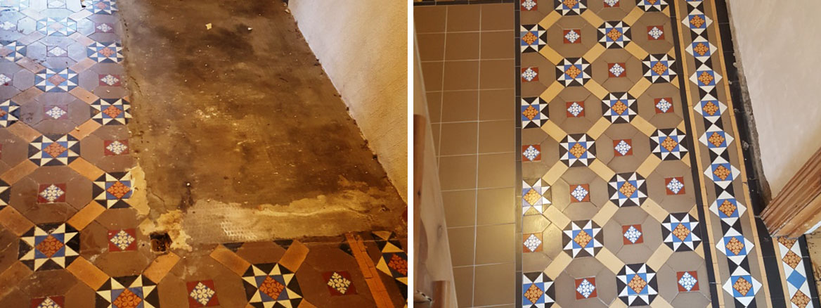 Victorian Hallway Penarth Before and After Restoration