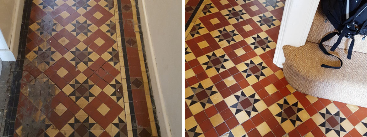 Victorian Tiled Floor Restoration Pont Canna
