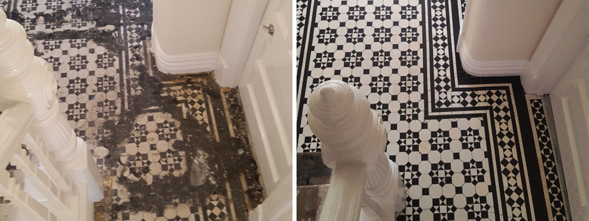 Deep Cleaning and Sealing to Restore Original Victorian Tiles in Maesteg