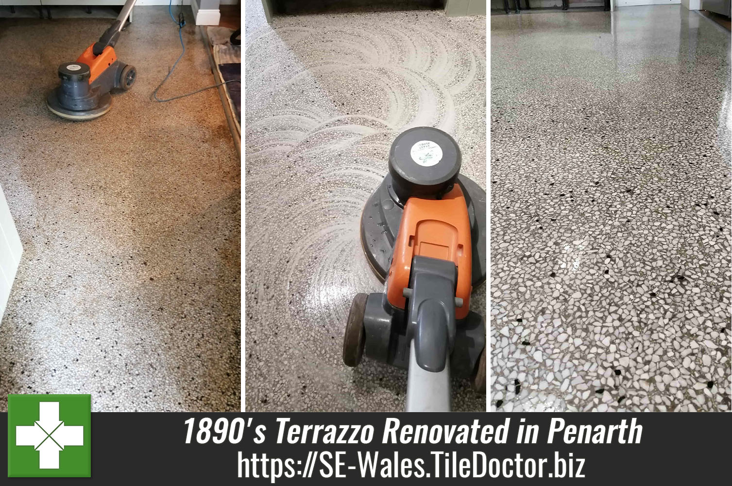 Renovating an 1890's Terrazzo Floor at a Church Vestry in Penarth