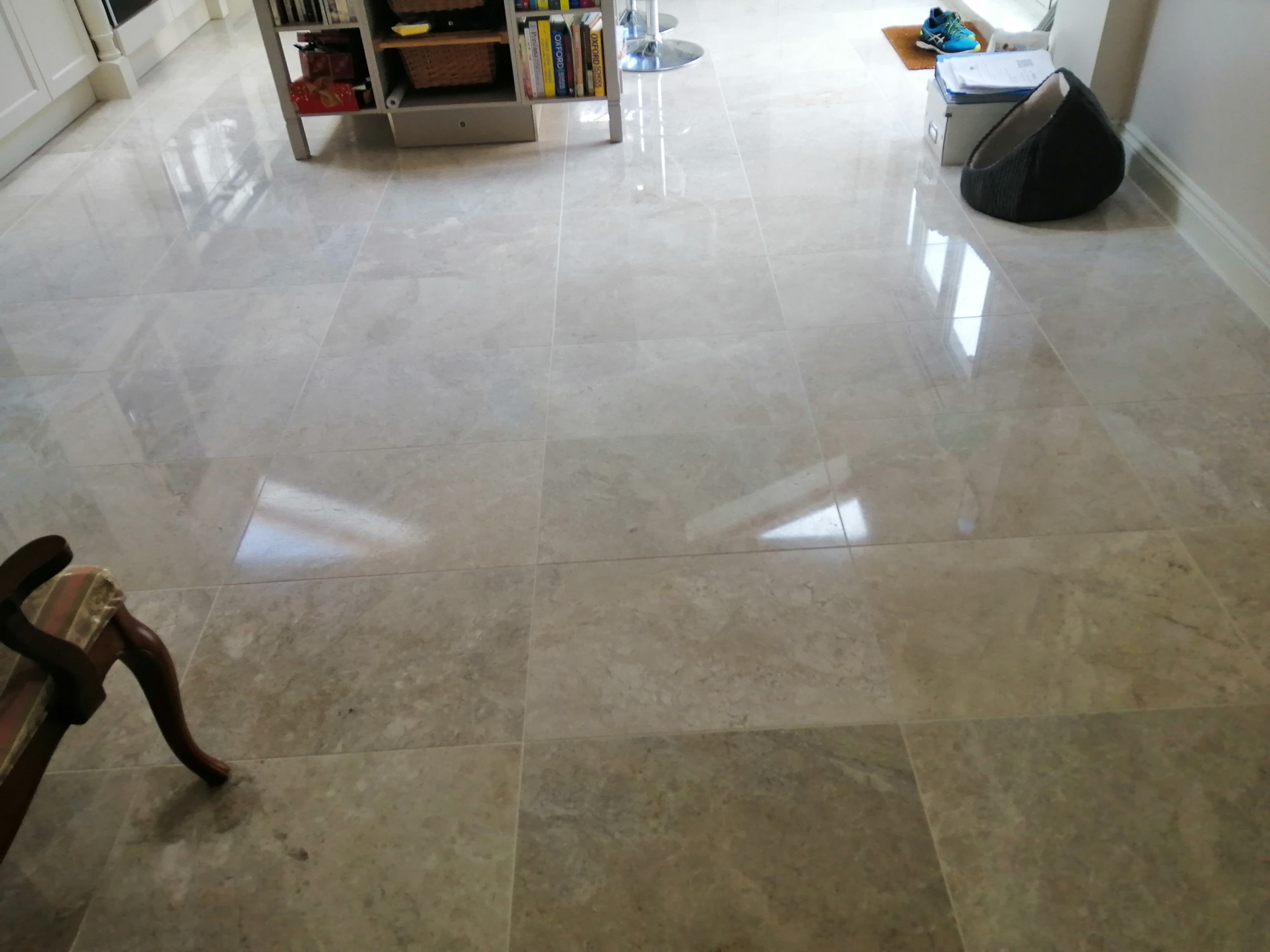 Marble Kitchen Floor After Renovation Cardiff